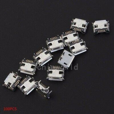 100pcs Female Micro USB Socket 4-Fixed Pin IC Components For Industrial Control