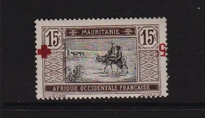 Mauritania - #B2b Inverted Surcharge, mint, cat. $ 170.00