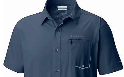 NEW COLUMBIA Men's TWISTED CREEK Short Sleeve Shirt ZINC, S-M-L-XL-XXL