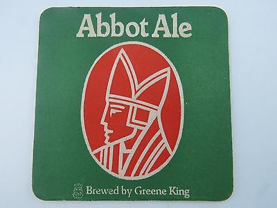 Beer Pub Mat Coaster <> Abbot Ale <> Brewed By Greene King <> Est. 1799 England