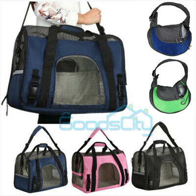 US Pet Carrier Soft Sided Large Cat/Dog Comfort Travel Bag Oxford Airline Approv