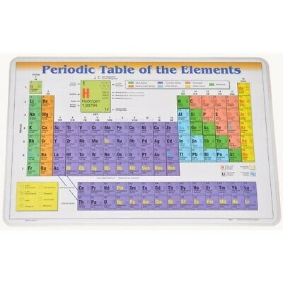 PERIODIC Mendeleev TABLE Elements PLACEMAT Homeschool School CHEMISTRY Material