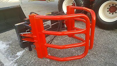 """Round Bale Grapple squeeze skid steer tractor attachment 48-82"""""""