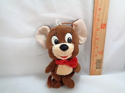 Cartoon Tom and Jerry Mouse Jerry Plush Toy Soft Stuffed Animal Doll beanie 7""
