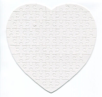 Blank Heart Jigsaw - Sublimation
