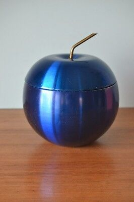 Vintage blue anodised apple ice bucket Daydream Australia