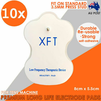 10x XFT TENS Machine Gel Pads Reusable Self Adhesive Electrode Pads AU