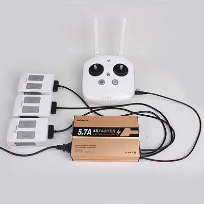 4 in 1 5.7A DJI Phantom4 Pro Battery Remote Controller Quick Intelligent Charger
