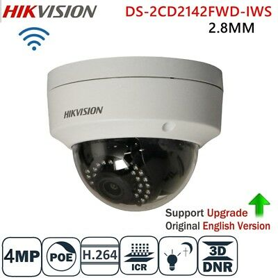HIKVISION 4MP POE WIFI Wireless DS-2CD2142FWD-IWS 2.8mm CCTV IP Camera