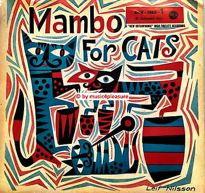 "♫ 7"" EP 1955 MAMBO FOR CATS Artwork: JIM FLORA GERMANY RCA 1063-1 s3 Labels EX ♫"