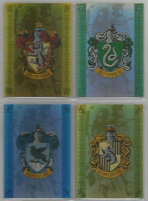 "Harry Potter Prisoner of Azkaban - ""House Badge"" 4 Card Box-Topper Set #BT1-BT4"