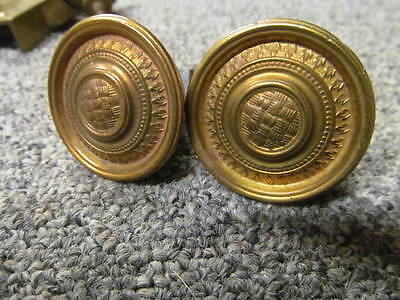 Pair of  - ANTIQUE - CUPBOARD / DRAWER KNOBS – ORIGINAL – BRASS  -DD202-