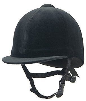 NEW Champion Junior Riding Hat – Children's riding helmet, black/navy, 51-62cm