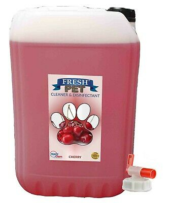 20L FRESH PET Kennel Dog / Cat Disinfectant, Cleaner, Deodoriser - Cherry W/ Tap