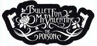 Bullet For My Valentine The Poison RARE promo die-cut sticker '05