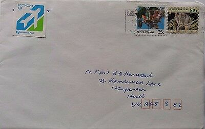 Australia 1999 Cover With Nice Economy Air Airmail Label