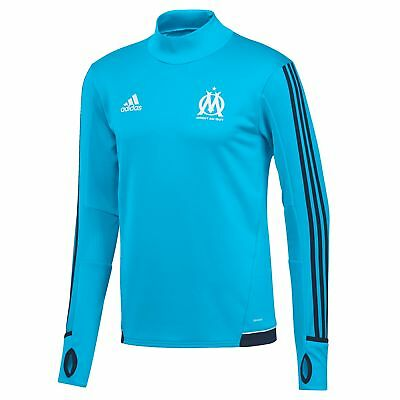 adidas Mens Gents Football Official Olympique de Marseille Training Top - Blue