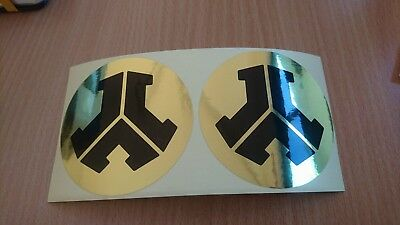 2 x Gold Defqon.1 Stickers