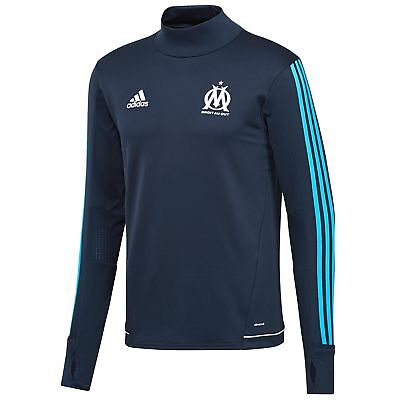 adidas Childrens Football Official Olympique de Marseille Training Top - Navy