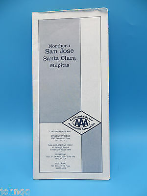 Vintage 1999 AAA Northern San Jose, Santa Clara, Milpitas California Street Map