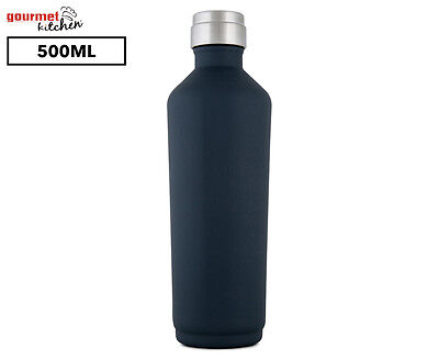 Gourmet Kitchen Double Wall Insulated Water Bottle 500mL - Gunmetal