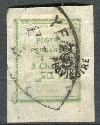 MIDDLE EAST;  1906 early Imperf issue + PROVISOIRE Optd fine used 3ch. value