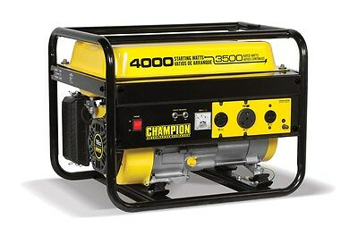 Champion 4000 Watt Portable Gas Generator RV Ready 46596 with free cover