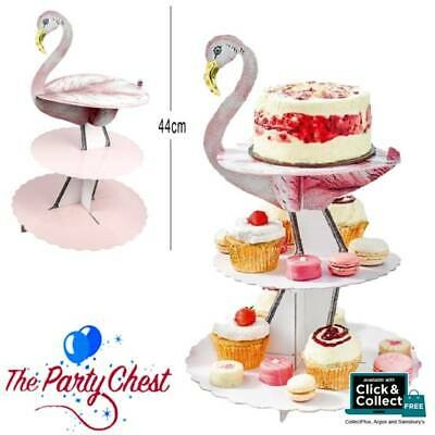 TRULY FLAMINGO 3 TIER TREAT STAND Vintage Tea Party Summer Party Tableware STAND