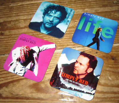 Simply Red Mick Hucknall Album Cover COASTER Set #2