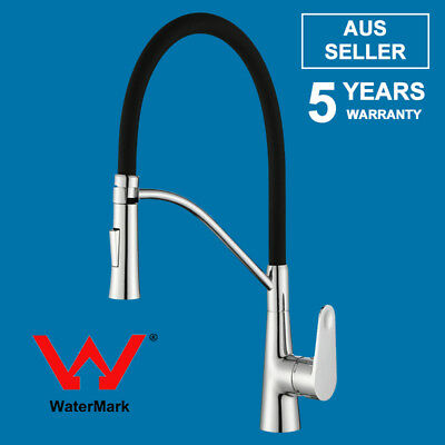 Hose Mixer Tap Pull Out Spout WELS Kitchen Laundry Sink Goose Neck Deck Mounted