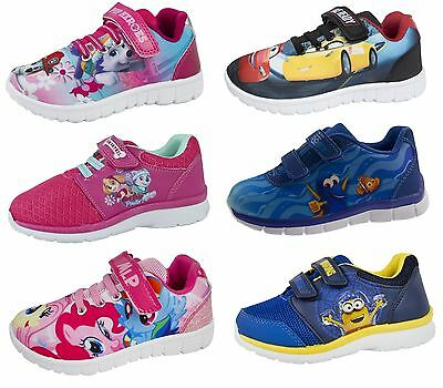 Kids Character Trainers Boys Girls Summer School Holiday Gym Sports Shoes Size