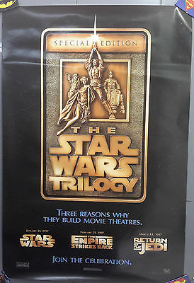 """Original 1997 Star Wars Trilogy Special Edition Movie Poster 27"""" x 40"""" (MFPO-23)"""