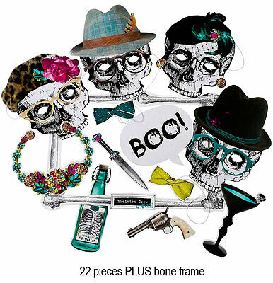 HALLOWEEN SKELE CREW SKELETON PHOTO BOOTH PARTY PROPS Selfie Photo Accessory