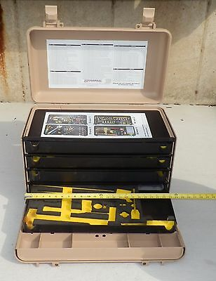 empty Kipper case Pelican Hardigg tool box wheeled 4 drawer Aviation Aircraft