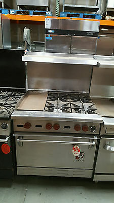 "36"" Wolf Range Stove 4 Burner With 12 Inch Standard Oven"