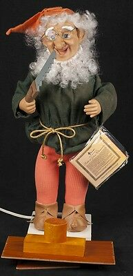 """Telco Motionette Animated Elf Gnome Christmas Toy Maker Electric 21"""" SEE VIDEO"""