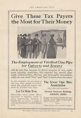 1917 The Sewer Pipe Mfrs Association Akron OH Ad: Employ Vitrified Clay Pipes