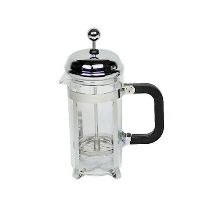 KS 350ml Stainless Steel Glass Tea Coffee Cup french Plunger Press Maker L2I3