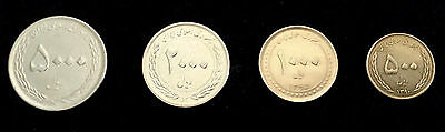 ***Complete Set of 4 Iran Persian Iranian Current Uncrculated UNC Coins***
