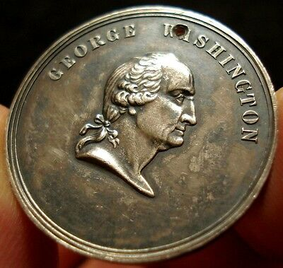 1861 George Washington Civil War Struck Silver Medal