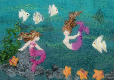 Mermaid Picture Felt Kit with online tutorial