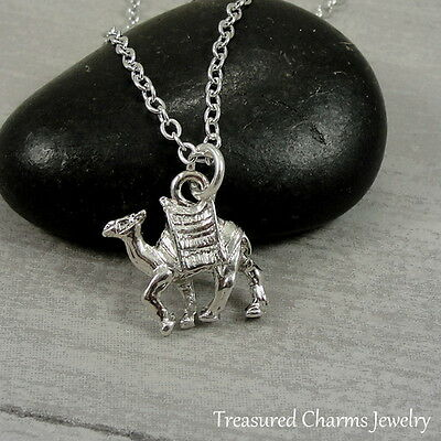 Silver Camel Charm  Necklace - Desert Animal AAA Pendant Jewelry NEW