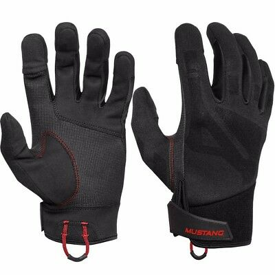 NEW Mustang Survival Mustang Traction Conductive Glove - Black/red - Large Ma600