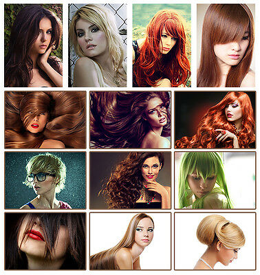 Women Hair Style Posters A3 A4 Haircut Beauty Salon Pictures Hairdresser