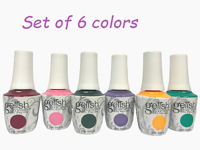 Harmony Gelish Soak-Off - SET OF ANY 6 COLORS x 0.5oz