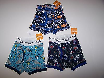 NWT Gymboree BOYS UNDERWEAR Boxers Size XXS(2T)   ( 3 pc  ) LOT #3 Mix