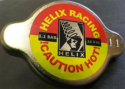 Helix Racing Products Radiator Cap - Silver - 16psi ( 1.1 Bar) 212-1113