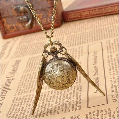 UK HARRY POTTER SNITCH POCKET WATCH NECKLACE Jewellery Gift Idea Quidditch