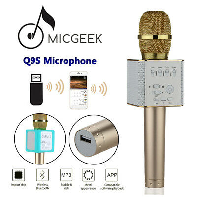 MicGeek Q9S Wireless Microphone Bluetooth KTV Karaoke With Mic For iPhone 7 6s 6