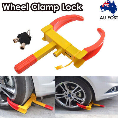 Heavy Duty Wheel Clamp Lock For Caravan Car Security + 3 Keys-New Anti-Theft Au